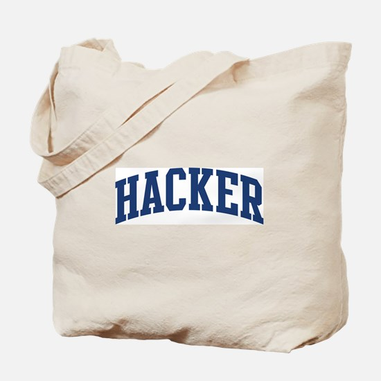 HACKER design (blue) Tote Bag