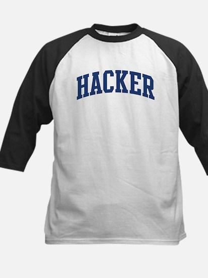 HACKER design (blue) Kids Baseball Jersey
