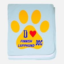 I Love Finnish Lapphund Dog baby blanket