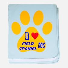 I Love Field Spaniel Dog baby blanket