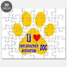 I Love Entlebucher Mountain Dog Puzzle