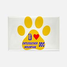 I Love Entlebucher Mountain Dog Rectangle Magnet