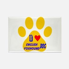 I Love English Foxhound Rectangle Magnet (10 pack)