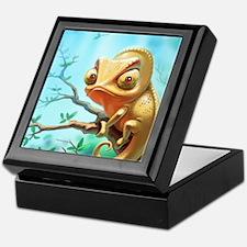 Cute Chameleon Keepsake Box