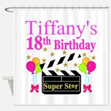 PERSONALIZED 18TH Shower Curtain