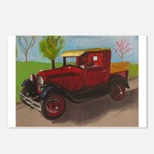 Unique Red truck Postcards (Package of 8)