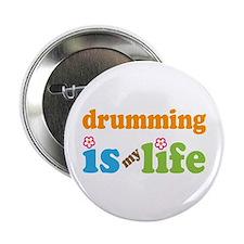 "Drumming Percussion 2.25"" Button"