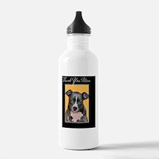 Thank You Mom Pitbull Water Bottle