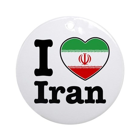 I love Iran Ornament (Round)