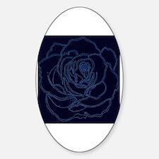 Cute Blue rose Sticker (Oval)
