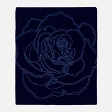 Cute Blue rose Throw Blanket
