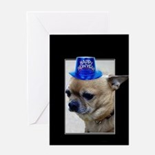 New Years Chihuahua Greeting Cards