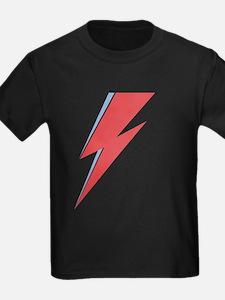 Ziggy Stardust - Lightning - On Black Star T-Shirt