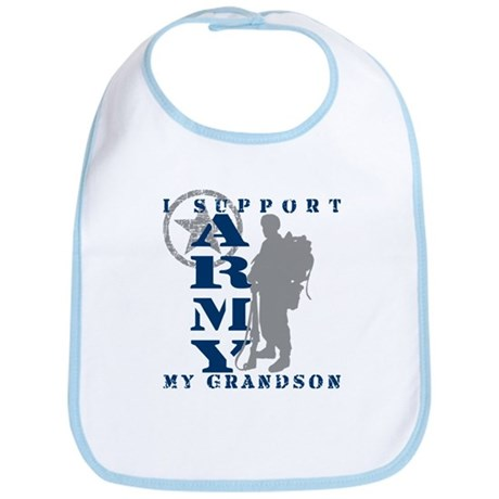 I Support Grandson 2 - ARMY Bib