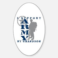 I Support Grandson 2 - ARMY Oval Decal