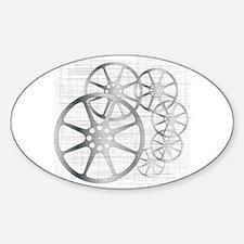 Cute Film reel Sticker (Oval)