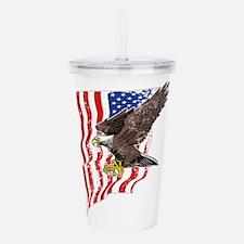 USA Flag and Bald Eagl Acrylic Double-wall Tumbler