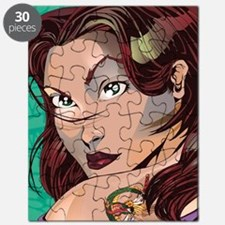 Cute Girl dragon tattoo Puzzle