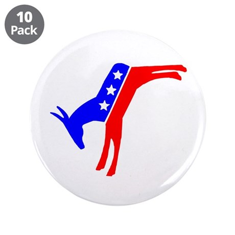 "Sweet Donkeys! 3.5"" Button (10 pack)"