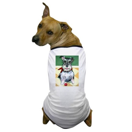 Schnauzer & Red Ball Dog T-Shirt