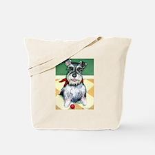 Schnauzer & Red Ball Tote Bag