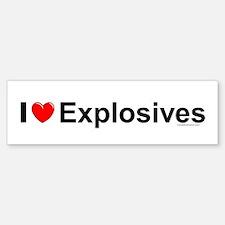 Explosives Sticker (Bumper)
