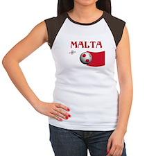 TEAM MALTA WORLD CUP Women's Cap Sleeve T-Shirt