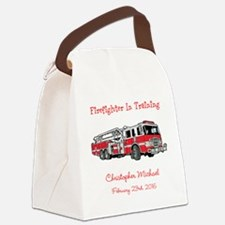 Firefighter in Training Canvas Lunch Bag