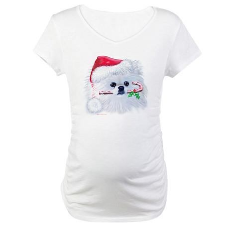 Trish's Pomeranian Christmas Maternity T-Shirt