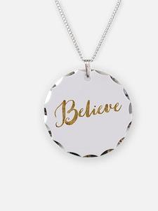 Gold Look Believe Necklace