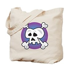 Cool Skull & Crossbones Design Tote Bag