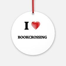 I Love Bookcrossing Round Ornament