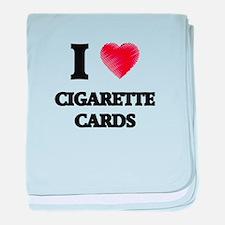 I Love Cigarette Cards baby blanket