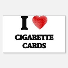 I Love Cigarette Cards Decal
