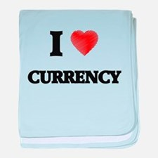 I Love Currency baby blanket