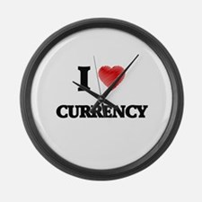 I Love Currency Large Wall Clock