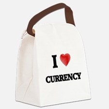 I Love Currency Canvas Lunch Bag
