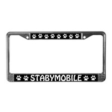 "Stabyhoun ""Stabymobile"" License Plate Frame"