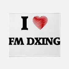 I Love Fm Dxing Throw Blanket