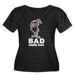 Bad Hare Day Women's Plus Size Scoop Neck Dark T-S