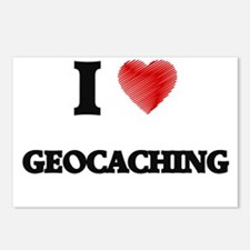 I Love Geocaching Postcards (Package of 8)