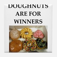 winning doughnut Tile Coaster