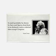 Twain on Criminal Class Rectangle Magnet