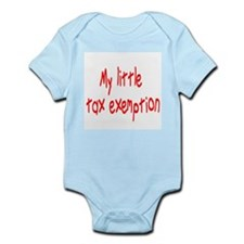 MY LITTLE TAX EXEMPTION Infant Bodysuit