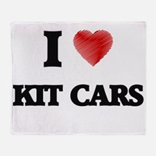 I Love Kit Cars Throw Blanket