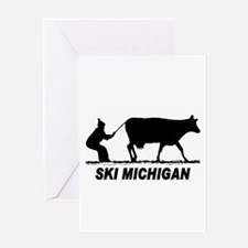 The Ski Michigan Shop Greeting Card