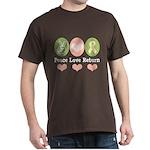 Peace Love Yellow Ribbon Dark T-Shirt