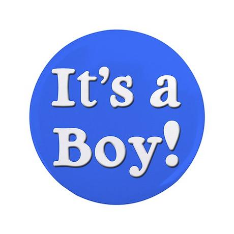 """It's a Boy! 3.5"""" Button"""
