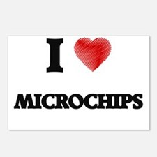 I Love Microchips Postcards (Package of 8)