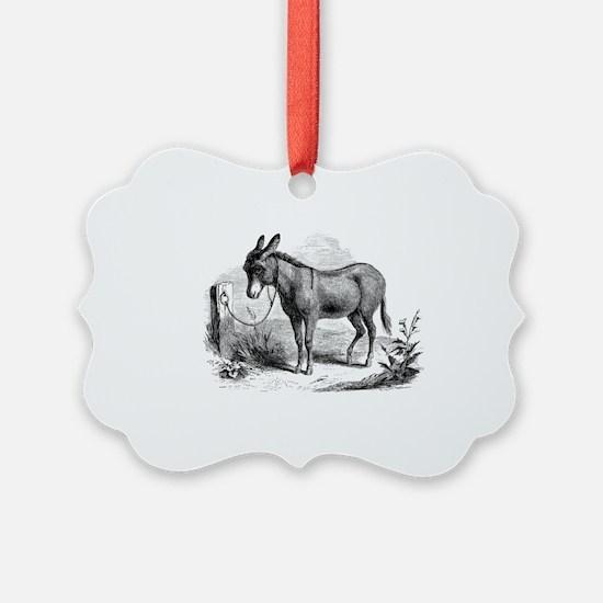 Cute Donkeys Ornament